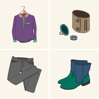 Vêtements et accessoires.