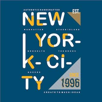 Vêtements de conception typographique new york city