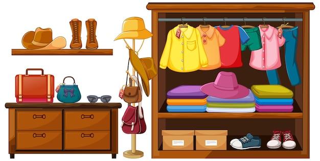 Vêtements dans l'armoire