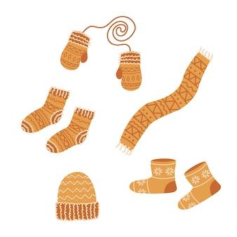 Vêtements d'hiver en tricot