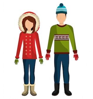 Vêtements d'hiver, vêtements et accessoires