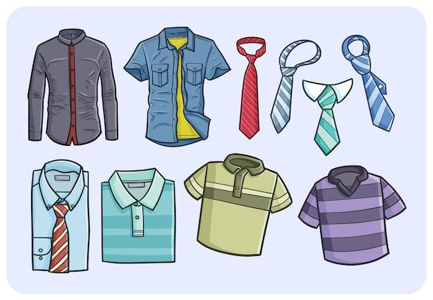 Vêtements homme drôle dans un style simple doodle