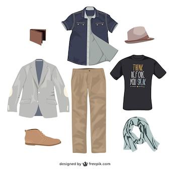 Vêtements homme vecteur