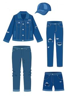 Vêtements en jean