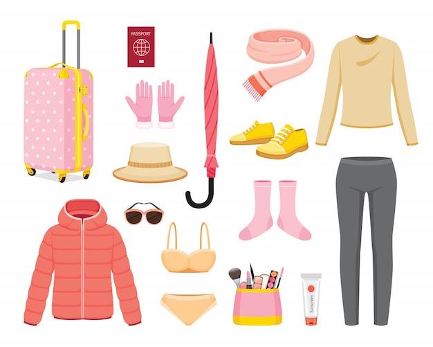Vêtements et nécessités pour le voyage de la saison d'hiver