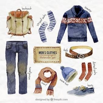 Vêtements peints à la main des hommes