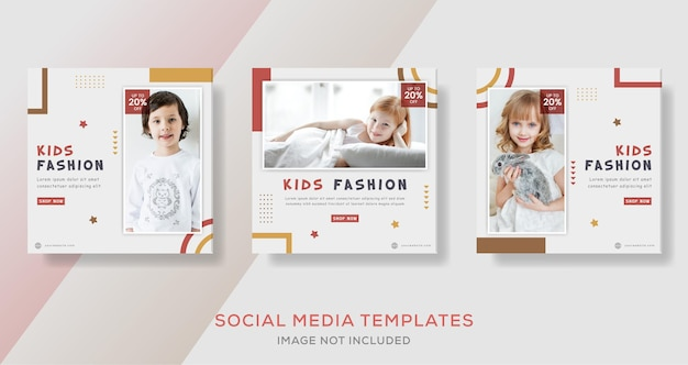 Vêtements pour enfants mode vente flyer modèle bannière post.