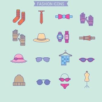 Les vêtements pour hommes et femmes comprennent un ensemble d'accessoires