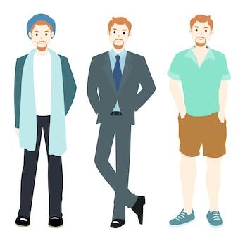 Vêtements de style varié pour hommes