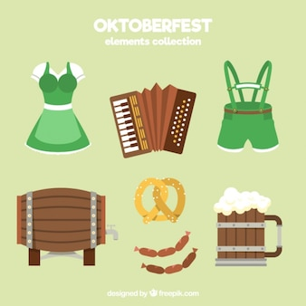 Vêtements typique pour oktoberfest avec d'autres articles