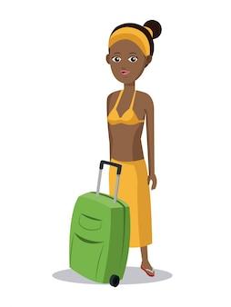 Vêtements de valise fille afro mignon