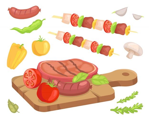 Viande rôtie au bifteck
