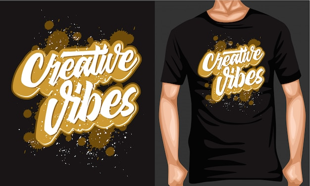 Vibes créatives lettrage typographie
