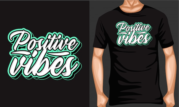 Vibes positives lettrage typographie