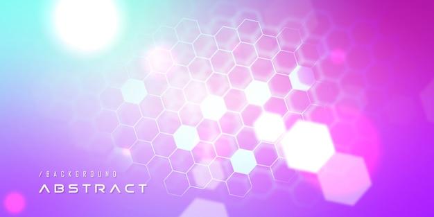 Vibrant nano hexagon technology background