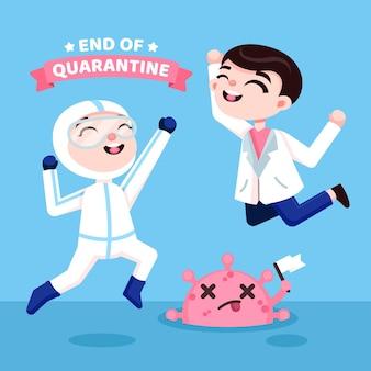 Victoire sur le concept de coronavirus