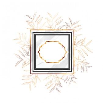 Victorien doré avec cadre et fleurs