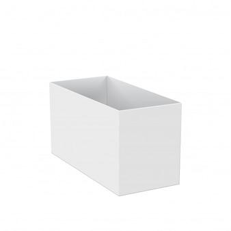 Vide de boîte ouverte isolé sur blanc