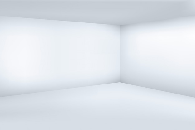 Vide moderne salle blanche 3d avec espace fond propre coin