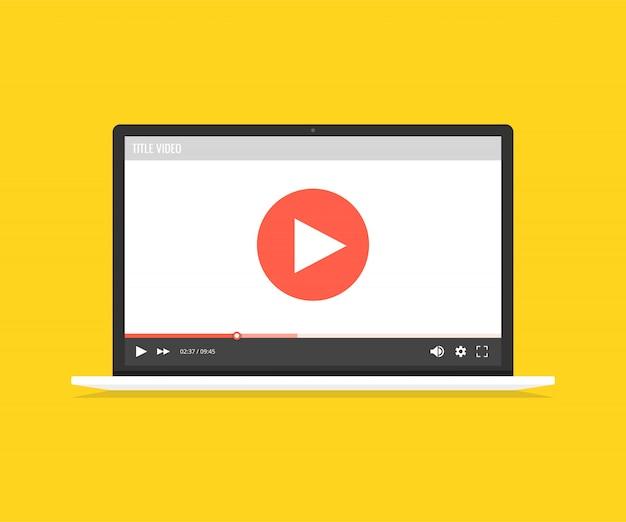 Vidéo en ligne, regarder des films, du matériel éducatif, des concepts de cours web