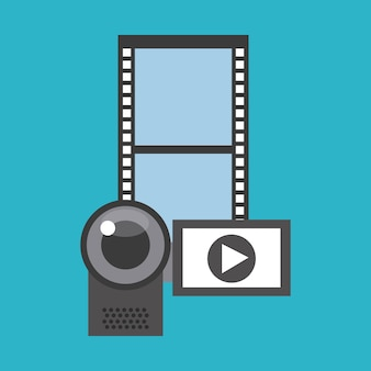Vidéo marketing définir des icônes plats