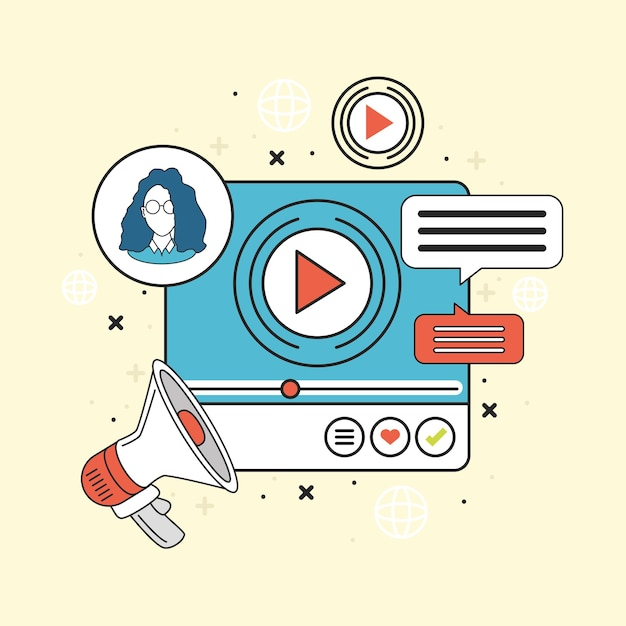Vidéo de marketing sur les réseaux sociaux virale