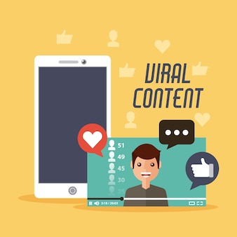 Vidéo mobile de contenu viral