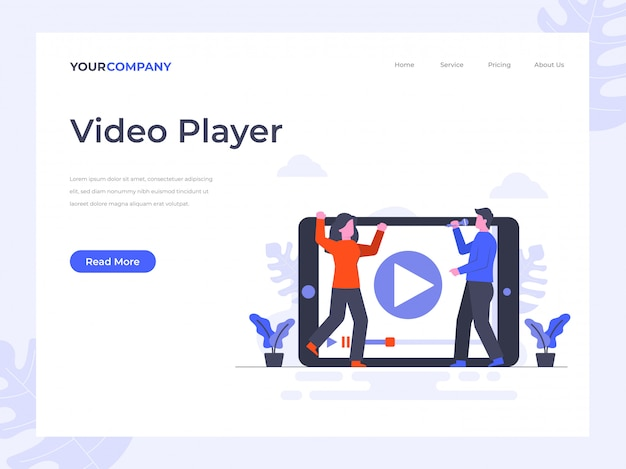Video player page d'atterrissage