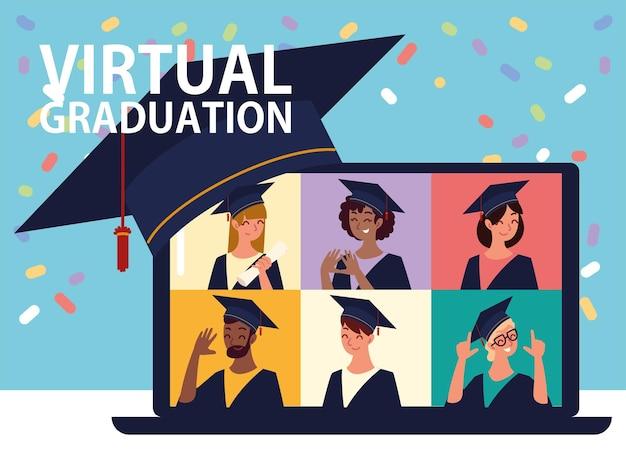 Vidéo de remise des diplômes virtuelle