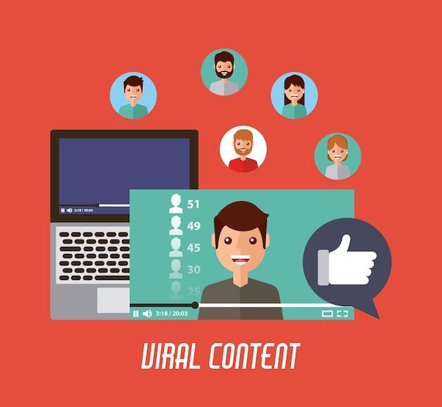 Vidéo virale contenu mobile comme commentaire d'amour