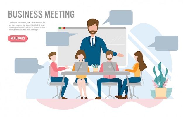 Vidéoconférence dans le concept de bureau