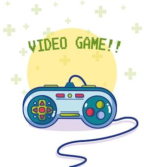 Videogame rétro gamepad vector illustration graphisme
