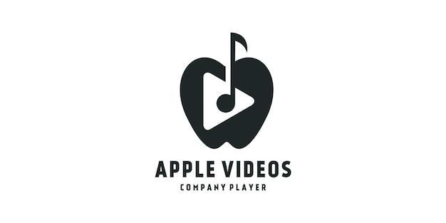 Vidéos de pomme de conception de logo
