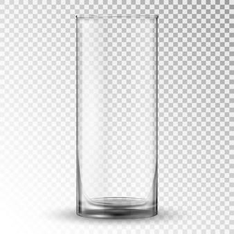 Vider la tasse en verre à boire réaliste.