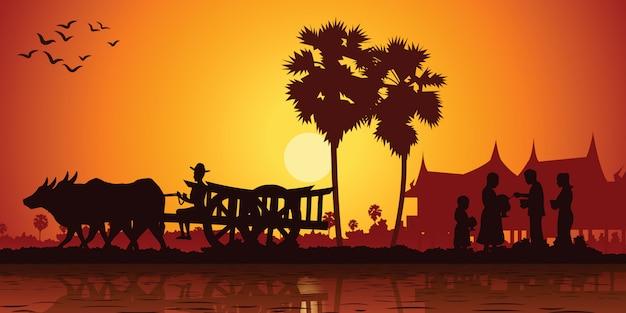 La vie à la campagne de l'asie