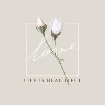 La vie florale est belle conception de cartes