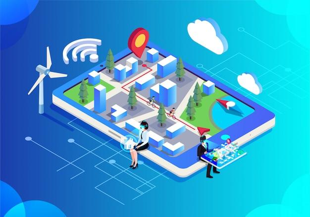 La vie intelligente dans les villes technologiques