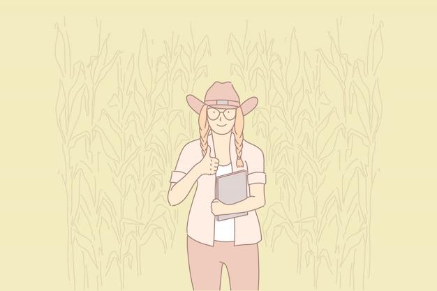 Vie rurale, protection de l'environnement, concept de mode de vie écologique