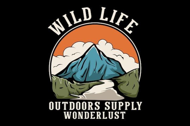 La vie sauvage à l'extérieur offre un design dessiné à la main