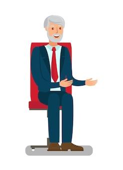 Vieil homme assis sur une chaise