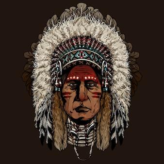 Vieil homme cherokee