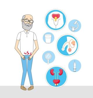 Vieil homme avec diagnostic d'infection rénale