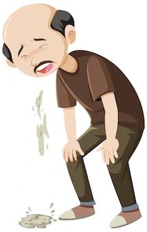 Vieil homme vomit