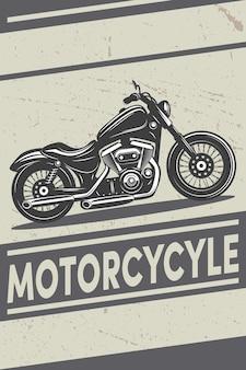 Vieille affiche de moto sur fond grunge