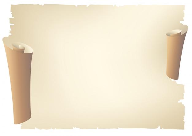 Vieille bannière de rouleau de papier