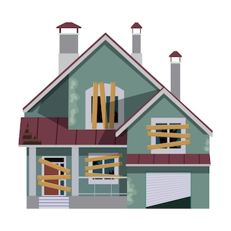 Vieille caricature de maison abandonnée