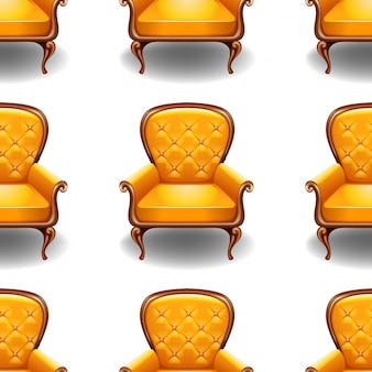 Vieille chaise isolé sur blanc