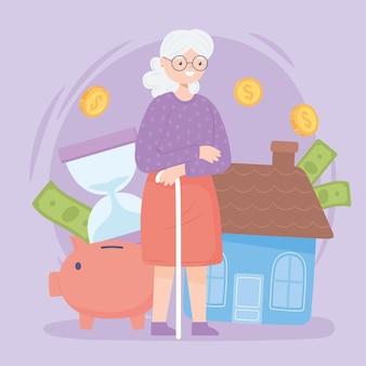 Vieille femme et épargne-retraite