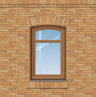 Vieille fenêtre cintrée