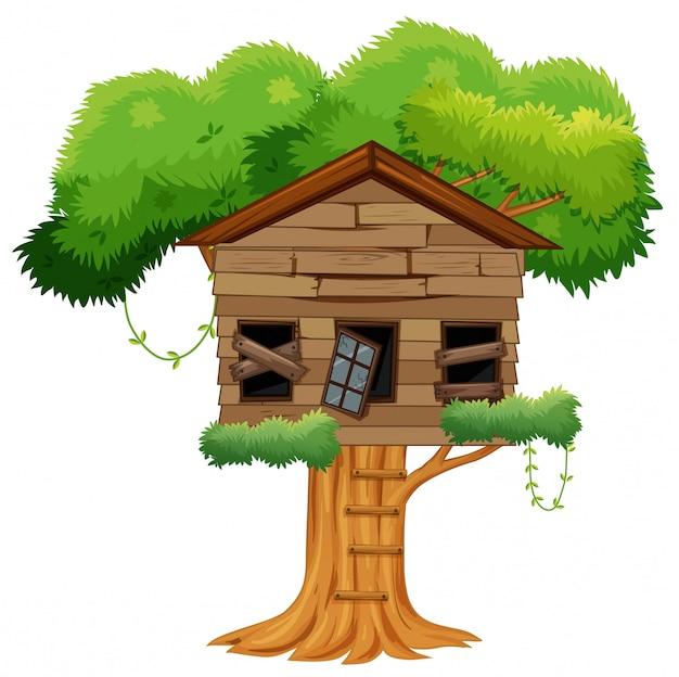 Vieille maison de l'arbre cassé